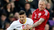 Simon Kjaer, right, says he turned down a move to Liverpool as he wants to win trophies Photo: AP