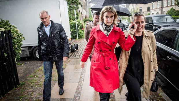 Prime Minister Helle Thorning-Schmidt returns to her home as she awaits the election results in Oesterbro, Copenhagen June 18, 2015. REUTERS/Asger Ladefoged/Scanpix Denmark