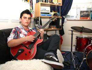 Alan Owens story Andreas Varady, Limerick guitar prodigy, who is to play at Quincy Jones' 80th birthday party in Las Vegas Picture: Press 22