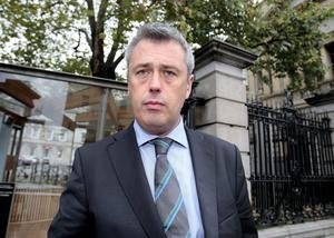 Head on: 'I will not be frightened from my home' — Fianna Fail TD Colm Keaveney and his family have been threatened. Photo: Tom Burke