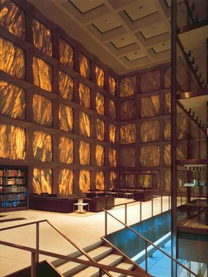 Beinecke Rare Book Library at Yale University, New Haven, Connecticut.