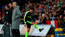 Alexis Sanchez shows his frustration after being substituted. Photo: Nick Potts/PA Wire