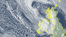 Weather warnings are in place as Storm Jorge hits Ireland. Photo: Met Eireann
