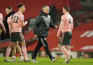 Chris Wilder praised his players for winning at Old Trafford in what he described as a tough season (Dave Thompson/PA)