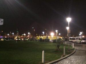 Ambulances close to Belfast's Odyssey Arena tonight. Photo:  Twitter/Mid Shankill Residents Group