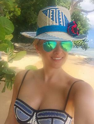 Jane Given on holidays in Barbados. Picture: Instagram
