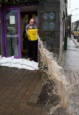 Floodwaters caused significant damage to homes and businesses across Galway. Photo: Andrew Downes