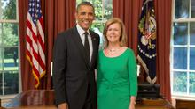 President Barack Obama receives Her Excellency Anne Anderson, Ambassador of Ireland, in the Oval Office.