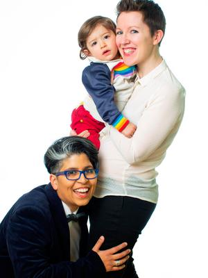 Dil Wickremasinghe and Anne Marie Toole with their son Phoenix. Anne Marie is expecting their second child
