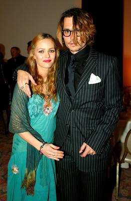 Depp with Vanessa Paradis who wrote a letter of support. Photo: Getty