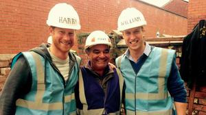 Princes Harry and William on the BBC's DIY SOS: The Big Build