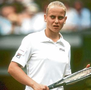 Pain game: Jelena Dokic at Wimbledon in 2001. Photo: Bongarts/Getty Images