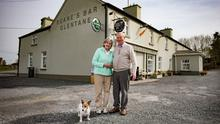 Christy and Mary Ruane, of Glentane, Co Galway, had to close their family pub due to the coronavirus restrictions. Photo: Mark Condren