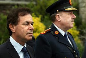 Minister for Justice Alan Shatter arriving with Garda Commissioner Martin Callinan. Photo: Tony Gavin