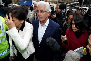 PR guru Max Clifford arrives at Westminster Magistrates' Court in London