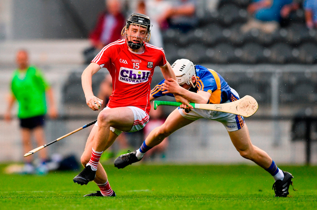 Jack O'Connor of Cork in action against Killian O'Dwyer of Tipperary. Photo: Eóin Noonan/Sportsfile