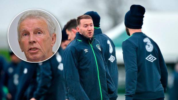 John Giles, inset, wants Aiden McGeady to start against Wales