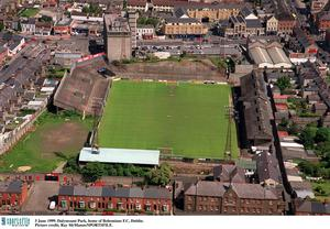 Ariel view of Dalymount Park. Picture credit; Ray McManus/SPORTSFILE.