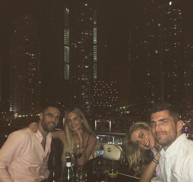 Conor Murray and girlfriend Joanna Cooper with Ireland rugby teammate Rob Kearney and his girlfriend Jess Redden. Picture: Instagram