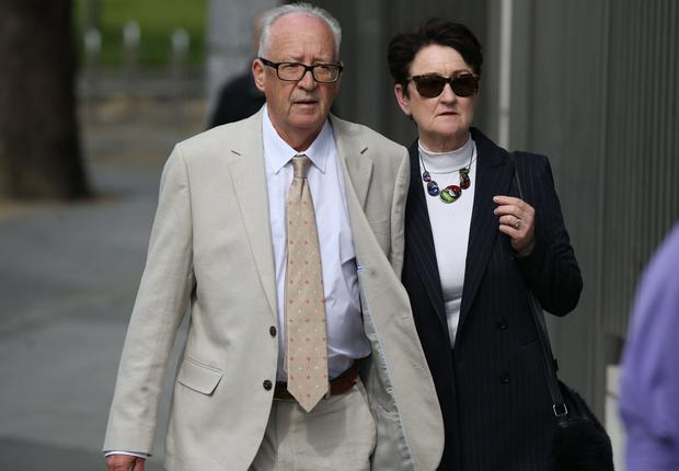 Geraldine and Patric Kriegel leaving court yesterday. Photo: Collins