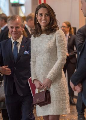 Kate Middleton visits the Karolinska Institute in Stockholm to hear about Sweden's approach to managing mental health challenges. Photo: Arthur Edwards/The Sun/PA Wire