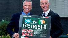 Graeme Souness and Mick McCarthy won't be hedging their bets when it comes to which team they are supporting on Friday. SPORTSFILE