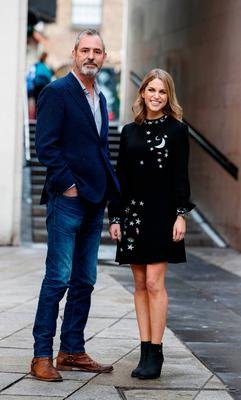 Amy Huberman and Neil Morrissey at the launch of Striking Out at the Irish Film Institute in Temple Bar. Picture: Andres Poveda
