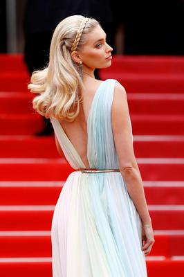 """Elsa Hosk attends the screening of """"A Hidden Life (Une Vie Cachée)"""" during the 72nd annual Cannes Film Festival on May 19, 2019 in Cannes, France. (Photo by John Phillips/Getty Images)"""