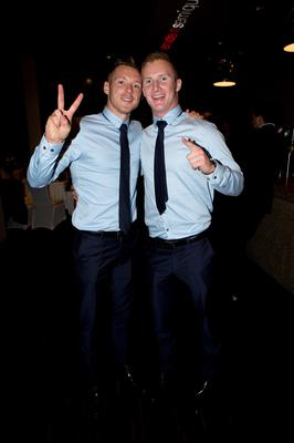 Dublins Paul Flynn with  Ciaran Kilkenny at the Winners Banquet in The Gibson Hotel
