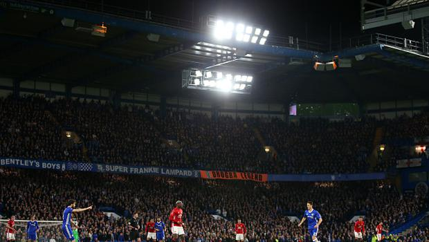 General view of the match during The Emirates FA Cup Quarter-Final match between Chelsea and Manchester United at Stamford Bridge. (Photo by Catherine Ivill - AMA/Getty Images)