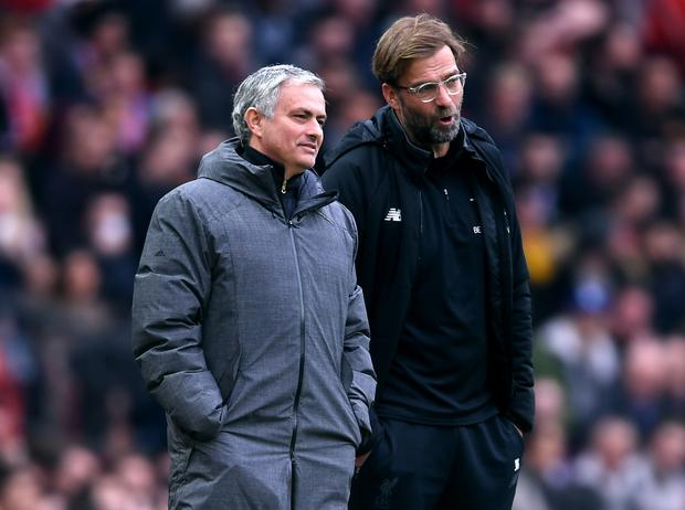 Spurs manager Jose Mourinho will pit his wits against Liverpool's Jurgen Klopp on Saturday (Photo by Laurence Griffiths/Getty Images)