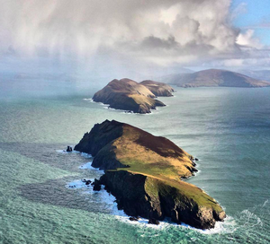 A rare view of the Blasket Islands as seen from the South West. Photo: Irish Air Corps