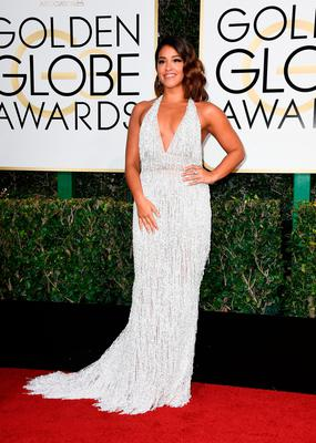 Actress Gina Rodriguez attends the 74th Annual Golden Globe Awards at The Beverly Hilton Hotel on January 8, 2017 in Beverly Hills, California.  (Photo by Frazer Harrison/Getty Images)