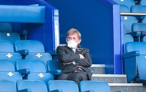 DIFFERENT TIMES: Kenny Dalglish in the stands during the Premier League match at Goodison Park. Photo: Peter Powell/PA Wire/NMC Pool
