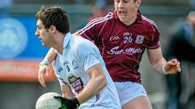 Kildare's Gary White in action against Galway's Shane Walsh during their Allianz NFL clash