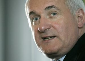 Bertie Ahern. AP Photo/Steven Senne