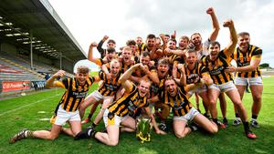 Shelmaliers celebrate their Wexford SHC final victory over Naomh Éanna at Wexford Park