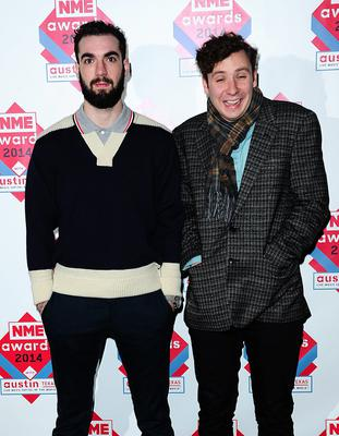 Two Door Cinema Club arriving for the 2014 NME Awards, at Brixton Academy, London.PRESS ASSOCIATION Photo. Picture date: Wednesday February 26, 2014. Photo credit should read: Ian West/PA Wire