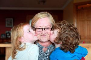 Ursula with Katelyn and Nathan. Pic: Courtesy of The Irish Sun