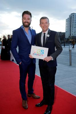 Karl Broderick and Alan Hughes pictured at the VIP Style Awards at the Marker Hotel in Dublin. Picture:Arthur Carron