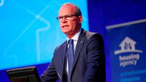 Housing Minister SimonCoveney Picture: Conor McCabe