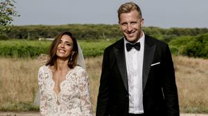 Nadia Forde and Dominic Day at their wedding in Puglia, Italy. Picture: Alli Woods