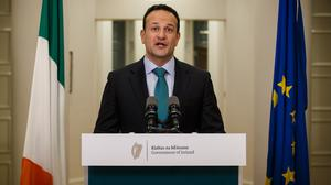 Giving clarity: Leo Varadkar told the nation that not all of us will make it through this crisis – but we will rebuild. Picture: Mark Condren