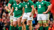14 March 2015; Ireland's Rob Kearney, centre, following his side's defeat. RBS Six Nations Rugby Championship, Wales v Ireland. Millennium Stadium, Cardiff, Wales. Picture credit: Stephen McCarthy / SPORTSFILE