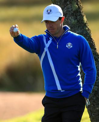 Europe's Rory McIlroy during the fourballs on day one of the 40th Ryder Cup at Gleneagles Golf Course, Perthshire. PRESS ASSOCIATION Photo. Picture date: Friday September 26, 2014. Photo credit should read: Lynne Cameron/PA Wire. RESTRICTIONS: Use subject to restrictions. Editorial use only. No commercial use. Call +44 (0)1158 447447 for further information.