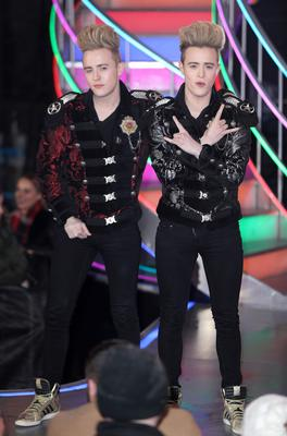 Jedward, in 2th place, leave the Celebrity Big Brother house on February 3, 2017 in Borehamwood, United Kingdom.  (Photo by Mike Marsland/WireImage)