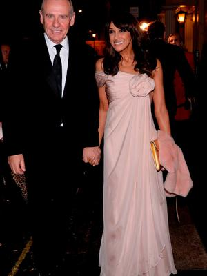 Jackie Sinclair (right) arrives for the wedding reception of Frank Lampard and Christine Bleakley at the Arts Club in Mayfair, London. PRESS ASSOCIATION Photo. Picture date: Sunday December 20, 2015