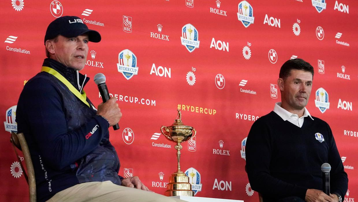 'I arrived in to find him too sweaty to give a hug due to lifting some heavy weights' - Harrington on Rahm's fitness