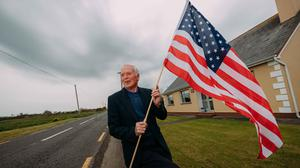 Welcome: Locals Senan McCarthy (pictured) and Rita McInerney are ready for Donald Trump's visit to Doonbeg. Photo: Eamon Ward