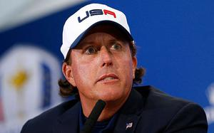 Letting rip: Phil Mickelson questioned the lack of a US gameplan in a clear jibe at captain Tom Watson following the latest loss
